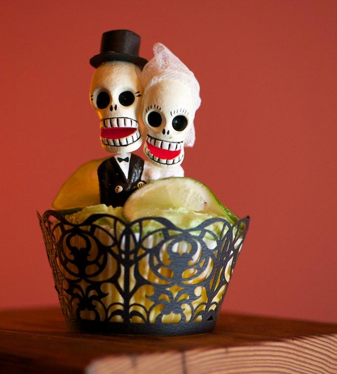 day of the dead cupcake topper