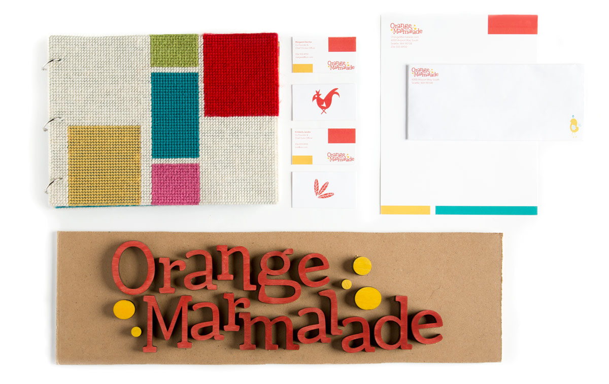 Margaret Darcher Kimberly Jacobs Orange Marmalade Identity Suite