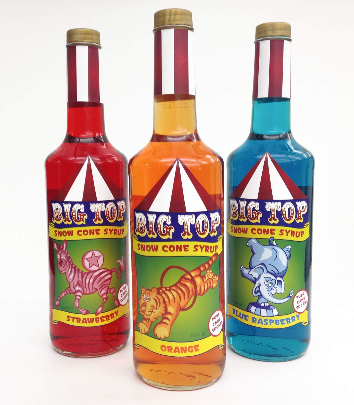 Margaret Darcher Big Top Snow Cone Syrup Packaging Design
