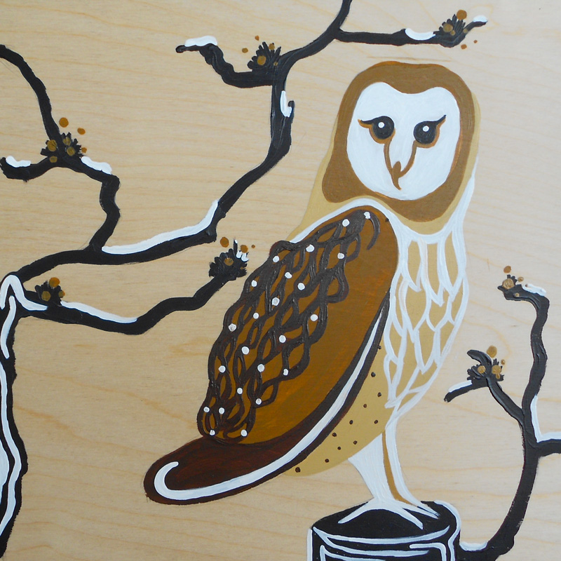 Margaret Darcher Barn Owl Painting