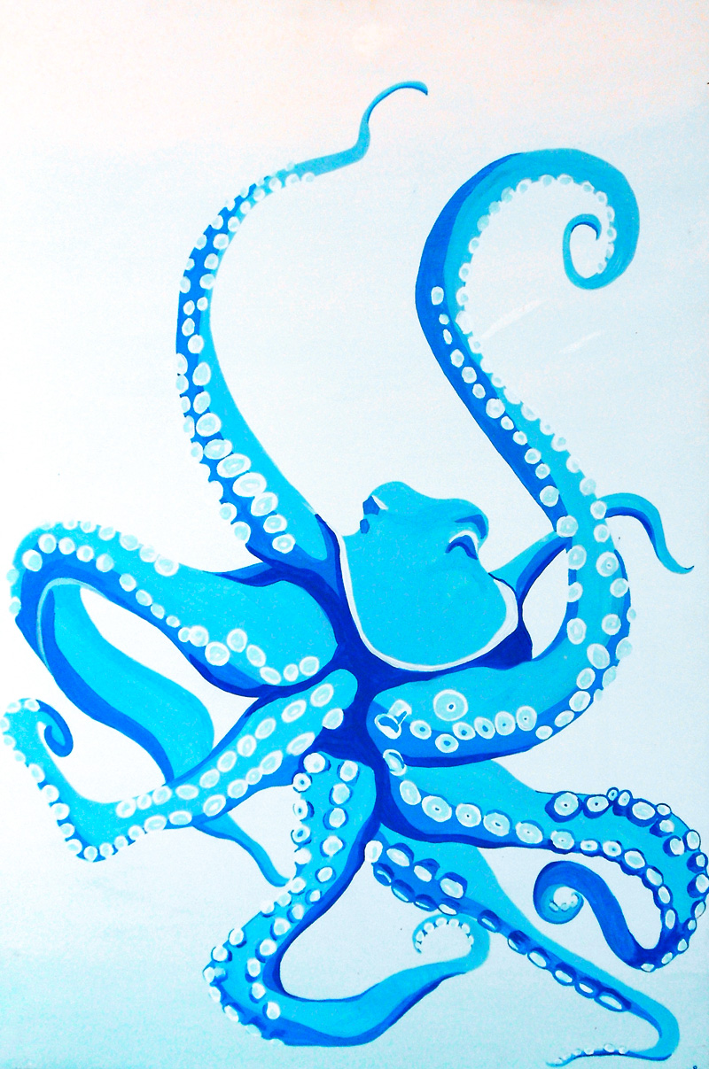 Margaret Darcher Giant Pacific Octopus Painting
